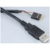 Scheda Tecnica: Akasa EXUSBIE-40 - USB cable Adapter with internal male - header to external USB type-a connector