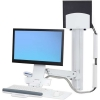 Scheda Tecnica: Ergotron Styleview Sit-stand Combo System With Medium White - Cpu Holder Kit Montaggio ( Braccio Snodato, Binario a Mur
