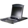 "Scheda Tecnica: ATEN 16 Port Ps2 Kvm e Dual Slideaway Dual Console With - 17"" LCD, On The Net"