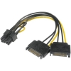 Scheda Tecnica: Akasa 2x 15-pin-SATA to 1x 6+2-pin-PCIe Adapter -